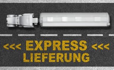 Express Lieferung - Konzept