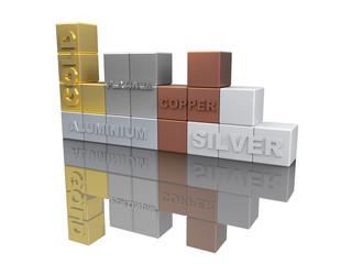 Noble Metals Tetris 3D Concept I