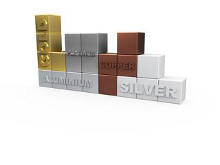 Noble Metals Tetris 3D Concept II