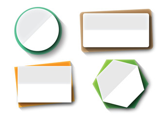 paper note banner tag vector