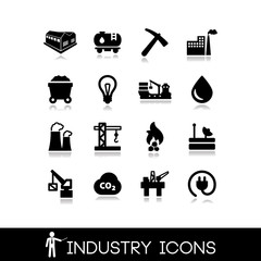Industry icons set 6