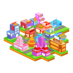 Isometric building of food industry