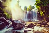 Tropical waterfall