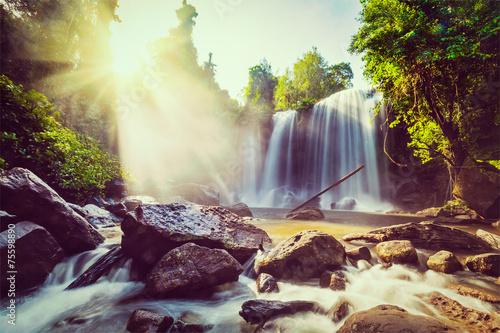 Tropical waterfall - 75598890