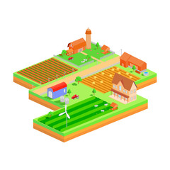 Isometric farmland