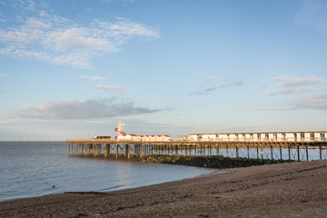 Herne Bay Pier in the late afternoon sunshine