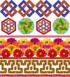 Simple national  decorative patterns