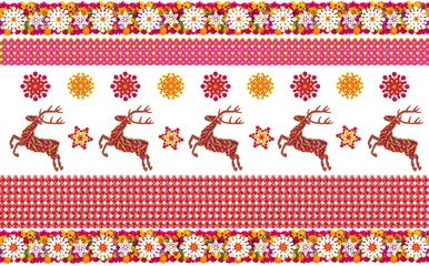 Norwegian pattern with deer