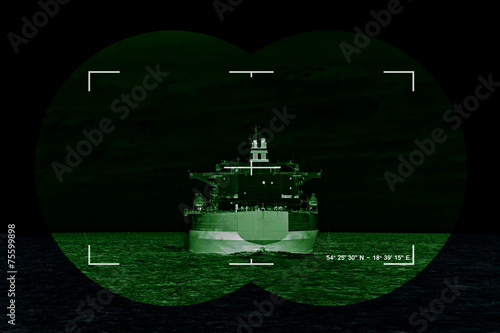 Sea freight and contemporary threat of terrorism - Concept Photo - 75599898
