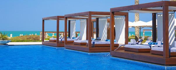Panoramic view of swimming pool