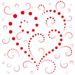 Abstract background the heart of dots on Valentine's day