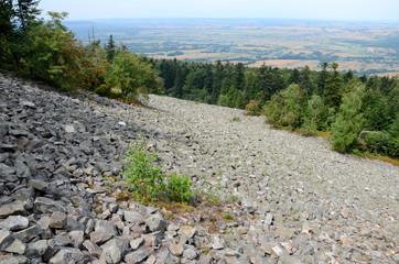 Mountains in Poland (Góry Świętokrzyskie, Łysa Góra)