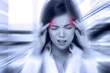 Headache migraine people - Doctor stressed