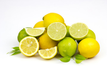 freh lime and lemon fruits