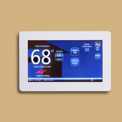 Electronic smart thermostat, isolated