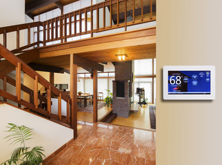 Programmable thermostat for temperature control in entranceway