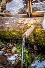 wooden trough water