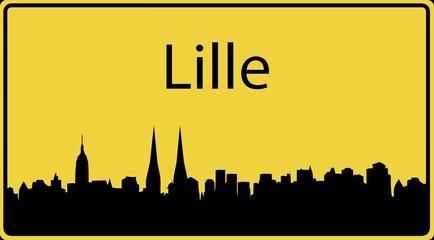 Ortsschild Lille