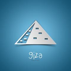 Giza, Egypt. Blue greeting card.