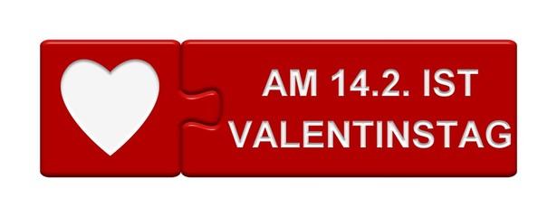 Puzzle Button: Am 14.2. ist Valentinstag