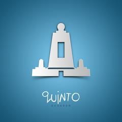 Quinto, Ecuador. Blue greeting card.