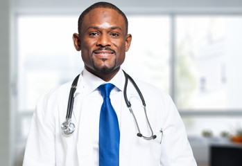 African doctor at the hospital
