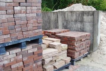 Wegebau Material Stein und Sand