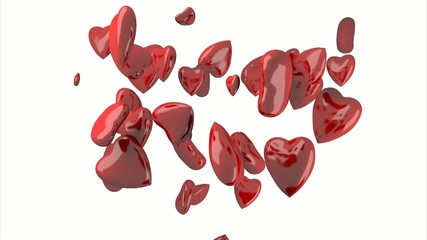 red heart shaped valentine's day symbol