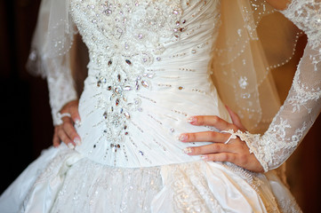 Corset wedding dress for bride