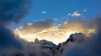 Sonnenaufgang im Hochgebirge