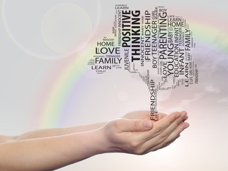 Conceptual education tree word cloud