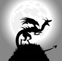 drago in una notte di luna piena