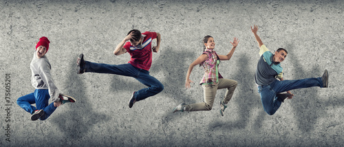 Fotobehang Dans Hip hop dancers