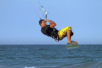Kite surfer, Cullera beach, Valencia, Spain