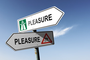 Pleasure directions. Choice for easy way or hard way.
