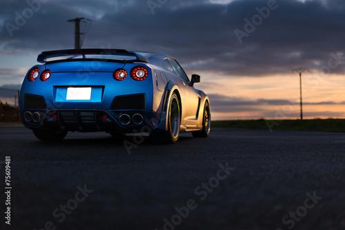 Foto op Aluminium Parijs Nissan GTR