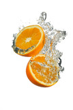 Orange with water