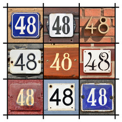 Collage of House Numbers Forty-eight
