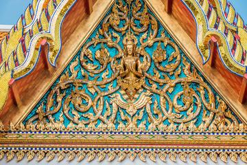 roof detail Wat Pho temple bangkok Thailand