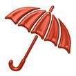 Orange umbrella icon
