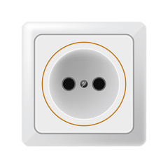White outlet on a white background. Vector. EPS 10.