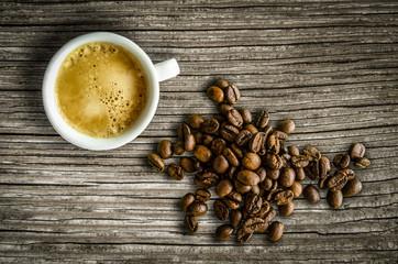 Retro Espresso And Coffee Beans