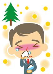 スギ花粉 ビジネスマン