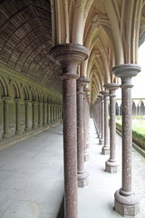 Cloister Mont Saint Michel Normandy France