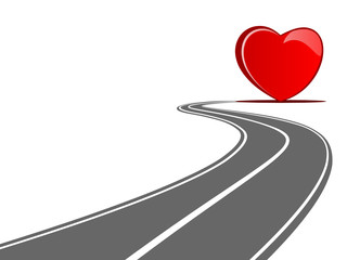 heart curved street