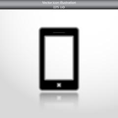 Vector smart phone web flat icon