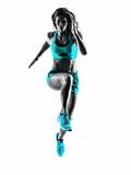 Fototapety woman runner running jogger jogging silhouette