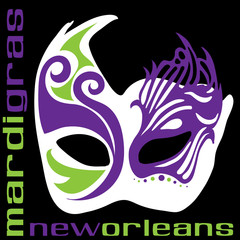 bright Mardi Gras mask