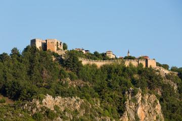 The castle in Alanya.  Turkey