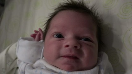 Close Up Baby Smiling
